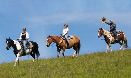 1- or 2-Hour Semiprivate Horseback Trail Ride for 2 on a Weekday or Weekend from Dakota Stables (Up to 66% Off)