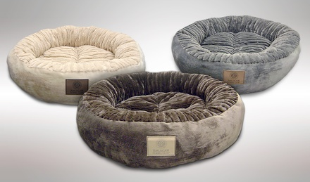 AKC Wave Fur Extra-Large Round Bed