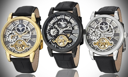 Stuhrling Original Men's Stainless Steel Automatic Skeleton Watch
