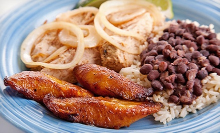 Puerto Rican Food at Salsa Latin Eatery (Up to 54% Off). Two Options Available.