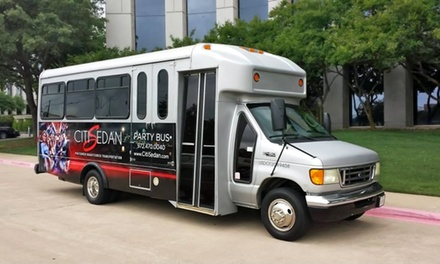 Three- or Five-Hour Party-Bus Rental for Up to 22 People from Citisedan Transportation (Up to 57% Off)