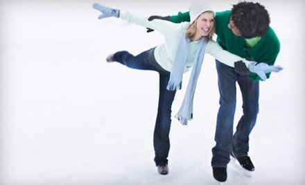 Ice-Skating with Skate Rentals for 2, 4, or 10 at ICE at The Parks (Up to 55% Off)