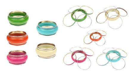 Conjunto de pulseiras em metal com diferentes cores à escolha por 6,99€