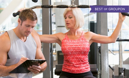One Month Gym Membership or Five Personal Training Sessions at Gold's Gym (Up to 64% Off)