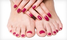 Two Regular Mani-Pedis or Two No-Chip Manicures with Spa Pedicures at Areté Salon and Spa (Up to 67% Off)
