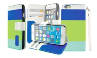 GROUPON: Tricolor Wallet Case for iPhone 4/4s, 5c, 6, or Galaxy S... Tricolor Wallet Case for iPhone 4/4s, 5c, 6, or Galaxy S5