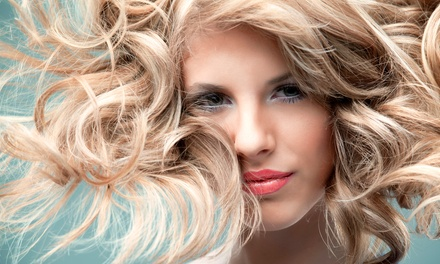 Haircut and Style with Optional Partial or Full Highlights with Toner at Alexandar Salon (Up to 69% Off)