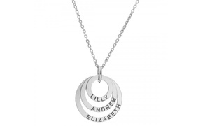 Sterling Silver Personalized Triple Ring Necklace With Free Delivery From Silvexcraft Design (up To 80% Off)