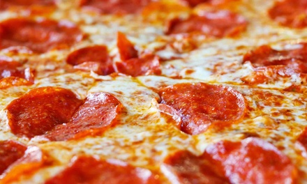 $15 for Two Large Pizzas with 3-Cheeser Bread and a Two-Liter Soda at Hungry Howie's ($30.78 Value)