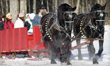 Horse-Drawn Sleigh or Wagon Ride with S'mores and Hot Cocoa for Two or Four at Cornerstone Ranch (Up to 54% Off)