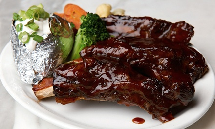 Classic Steak-House Food and Drinks for Lunch or Dinner at Cafe La Maze (45% Off)