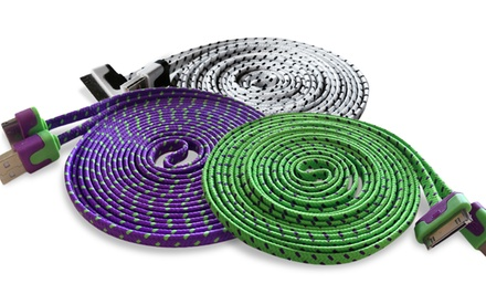 10 Ft. Tangle-Resistant 3D Luxe USB Cable for iPhone 4/4s. Multiple Colors Available. Free Returns.
