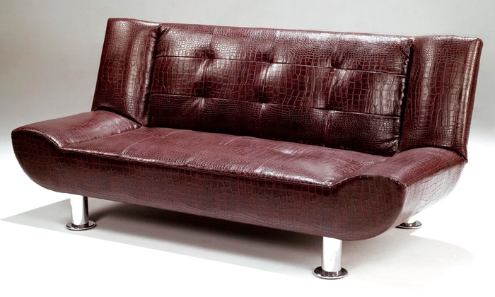 neuBID: Faux Leather Crocodile Skin Sleeper Couch for R2 495 Including Delivery (29% Off)