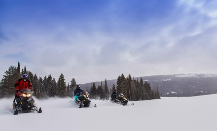 groupon daily deal - 1- or 2-Night Stay in a Cabin for Up to Six, or Snowmobile Rental at The Cabins at Bear River Lodge in Summit County, UT