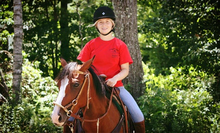 $35 for a Two-Hour Guided Horseback Trail Ride at Cornerstone Ranch ($70 Value)