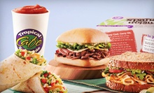 One or Three Sandwiches and Smoothies, or $25 for $50 Worth of Catering at Tropical Smoothie Cafe