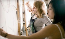 $45 for a Two-Hour Canvas & Corks Painting Workshop for Two at The Faux School ($80 Value)