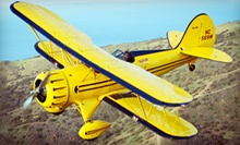Chartered One-Way or Round-Trip Biplane Flight to Catalina Island for Two from SkyThrills (Up to 56% Off)