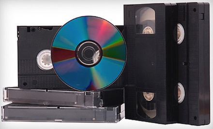 Videotape-to-DVD Conversion for 1, 3, 5, or 10 Two-Hour Tapes at Printergy (Up to 79% Off)
