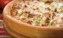 Pizza Dinner for Two or Four with Salad or $10 for $20 Worth of Pizza, Appetizers, and Drinks at Godfather's Pizza