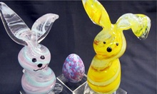Bunny-, Egg-, or Flower-Themed Glass-Blowing Experience for One or Two at Uptown Glassworks (Up to 60% Off)
