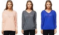 GROUPON: Women's V-Neck Mesh Sweater Women's V-Neck Mesh Sweater