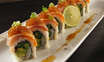 Japanese Cuisine and Sushi for Dinner at Kibo Restaurant and Lounge (50% Off). Two Options Available.