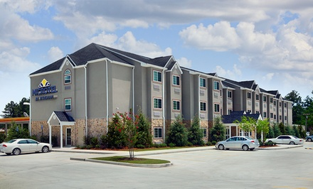 groupon daily deal - Stay at Microtel Inn & Suites Pearl River/Slidell in Louisiana, with Dates into June