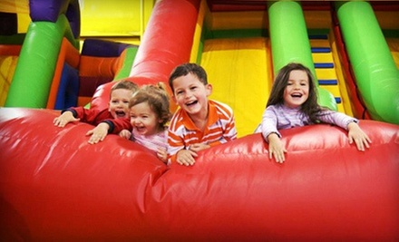 All-Day Inflatable-Playground Visit for Four, or Birthday Party for Up to 12 at Kangaroo Jac&#x27;s (Up to 59% Off)