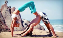 Three Yoga Classes or One Month of Unlimited Yoga Classes at Maya Yoga (Up to 77% Off)