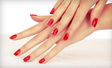 One or Two Mani-Pedis at Blush Salon & Spa (Up to 51% Off)