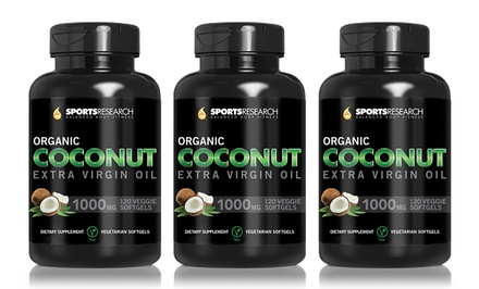 Buy 2 Get 1 Free: Sports Research Organic Coconut Extra-Virgin Oil Softgels