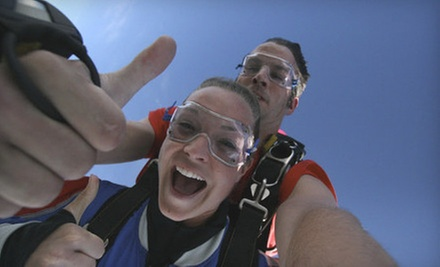 $138 for Tandem Skydiving Session or First-Jump Course and Jump from Skydive Deep Creek ($275 Value)