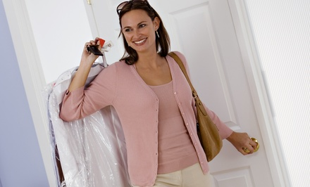 $49 for $100 Worth of Dry Cleaning. 18 Locations and Free Home Delivery Available.