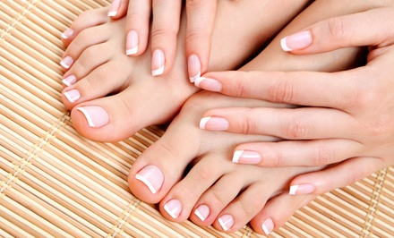 Basic or Shellac Mani-Pedi at Crazy Nails & Spa (Up to 52% Off)