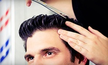 One or Three Men's Haircuts with Straight-Razor Shaves at Prestige Barber Shop (Up to 58% Off)