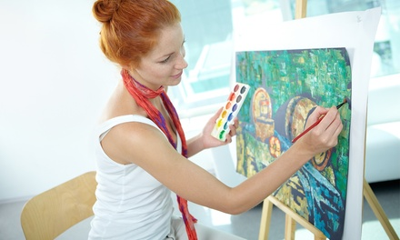Painting Class with Drink for 1 or 2 or Private Party for Up to 15 at Uncork'd Art (Up to 51% Off)