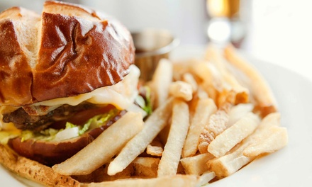 Classic or Gluten-Free Pub Food or Burgers for Two or Four at 97 Lake Sports Cafe and Restaurant (Up to 56% Off)