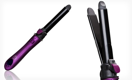 Milana by InStyler 2-in-1 Curling Iron and Flat Iron