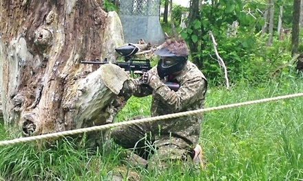 All-Day Paintball Outing with CO2, Marker, & Mask for Four, Six, or Eight at Indy Acres Paintball (Up to 62% Off)