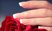 Manicure and Spa Pedicure, or a Full Set of Pink and White Acrylic Nails at Volpe Salon &amp; Day Spa (Up to 53% Off)