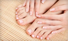 One or Two Mani-Pedis at England's Hair Salon & Spa (Up to 51% Off)