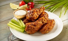 Chicken-Wings Meal for Two or Four with Fries, Drinks, and Ice Cream at Hurricane Grill & Wings (Up to 54% Off)