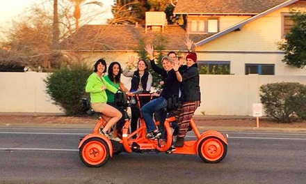 $95 for a Two-Hour Pedal Pub Crawl for Six from Phoenix Pedaler ($150 Value)