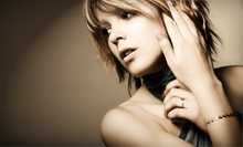 Haircut, Power Conditioning Treatment, and Partial or Full Highlights at B-CC Total Body Beauty Salon and Spa (59% Off)