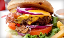 Burgers, Pizza, and Food at City Sports Grille at Spare Time (Half Off). Two Options Available. 