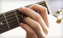 4 or 12 Group Guitar Lessons at Strum & Sip (Up to 73% Off)