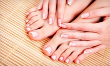 Full Set of Acrylic Nails, Spa Mani-Pedi, or Two Spa Pedicures from Tricia at Salon Charis (Half Off)