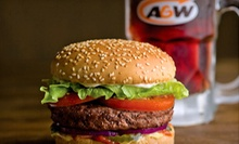 Burger Combo Meals with Fries and Soft Drinks for Two or Four at A&amp;W (Up to 60% Off) 