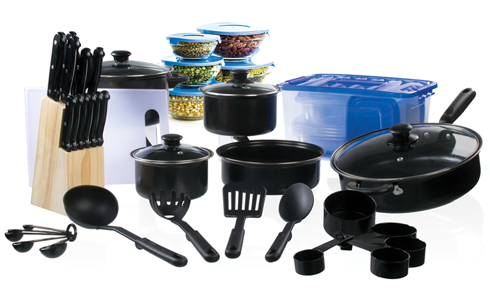 cookware and cutlery starter set